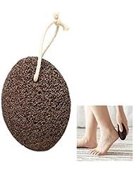 足の石、死んだ肌にヒール、ペディキュア火山岩、家庭用バスルーム製品、大人に適した、ハングアップすることができます。,Brown