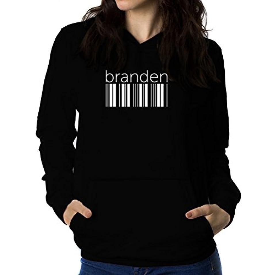 錫鉱石きらきらBranden barcode 女性 フーディー