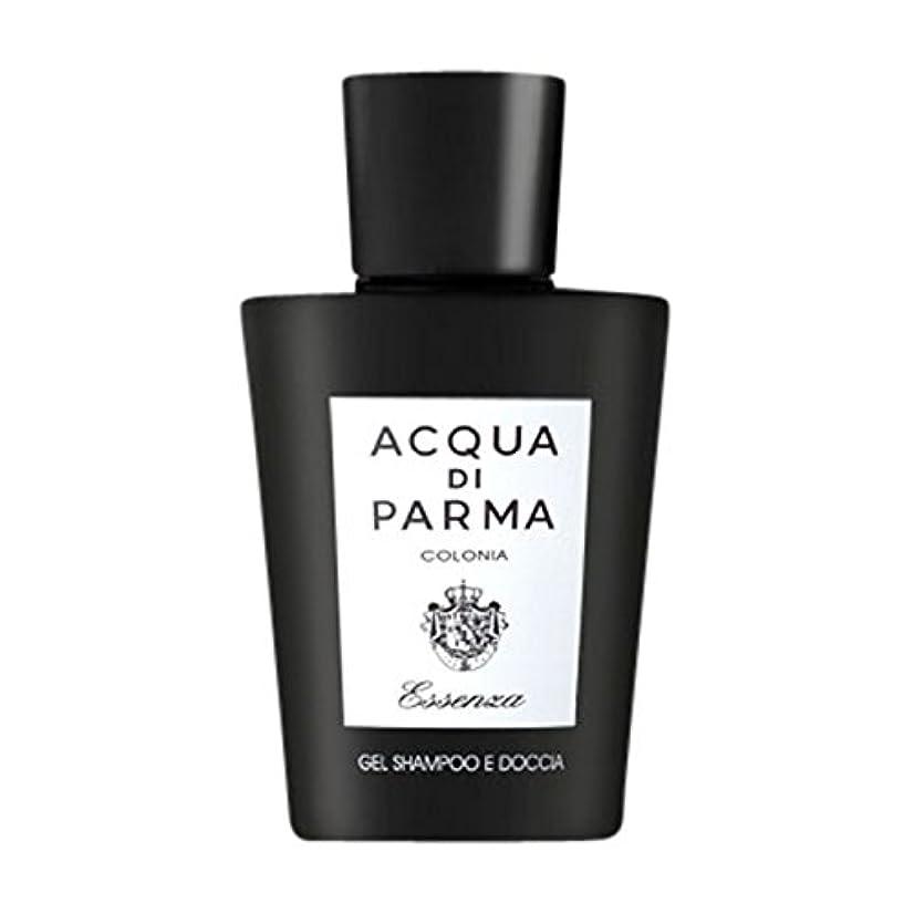 広告準備ができて疑わしいアクアディパルマコロニアEssenza髪とシャワージェル200ミリリットル (Acqua di Parma) (x6) - Acqua di Parma Colonia Essenza Hair and Shower Gel...