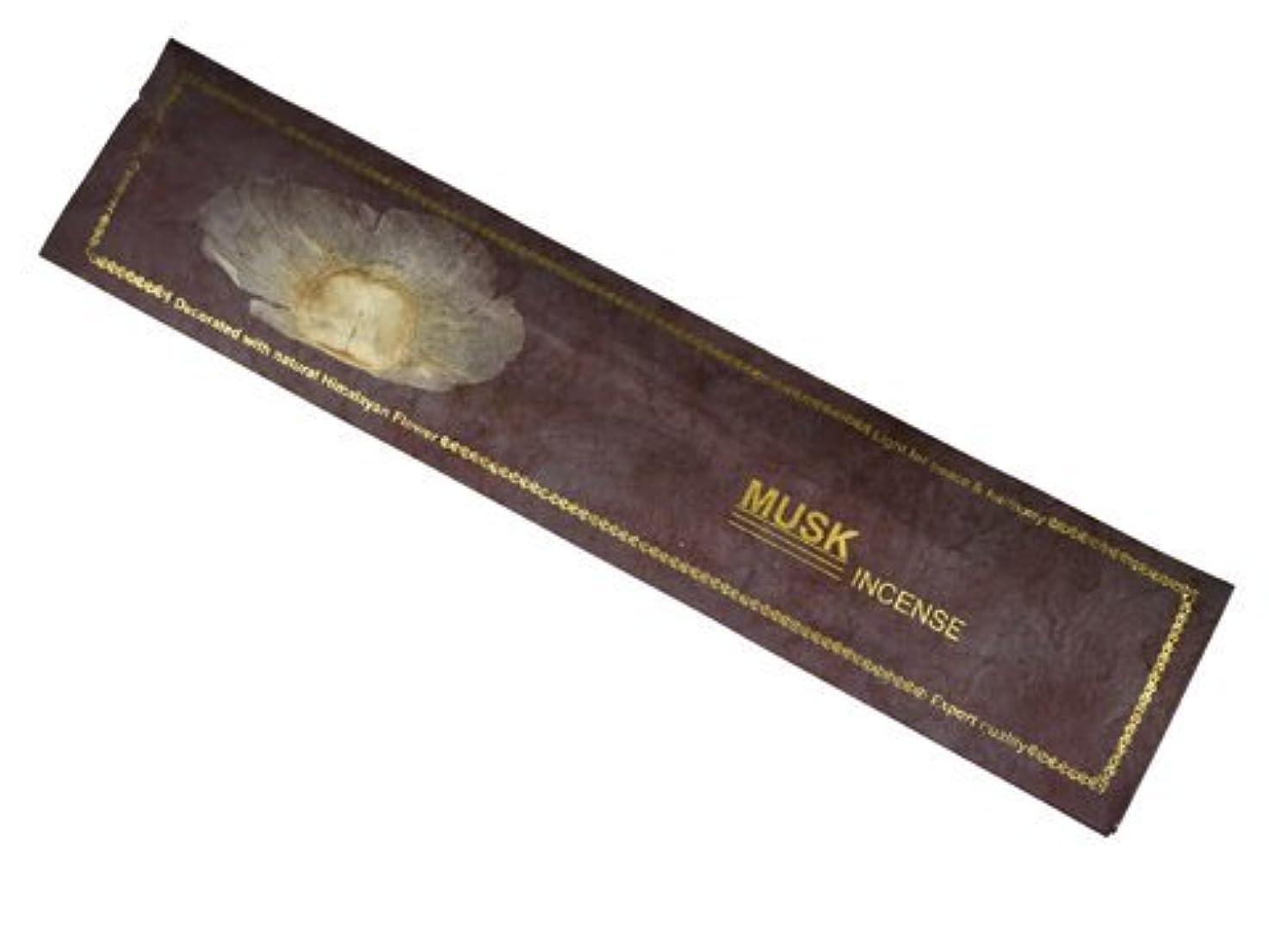 達成するマーチャンダイジング植木NEPAL INCENSE ネパールのロクタ紙にヒマラヤの押し花のお香【MUSKムスク】 スティック