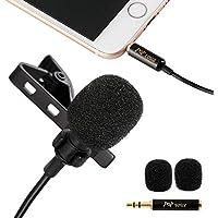 PoP voiceコンデンサーマイク ピンマイク ミニクリップマイク 全指向性 高音質 録音 雑音を抑え iphone/android/PC/iPad対応 Youtube/インタビュー/スタジオ/ビデオ録画 宅録可能 専用収納ポーチ付き (シングル) [並行輸入品]