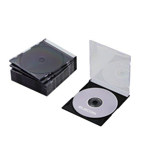 エレコム ELECOM Blu-ray/DVD/CDケース スリム/PS/1枚収納  ブラック CCD-JSCS10BK