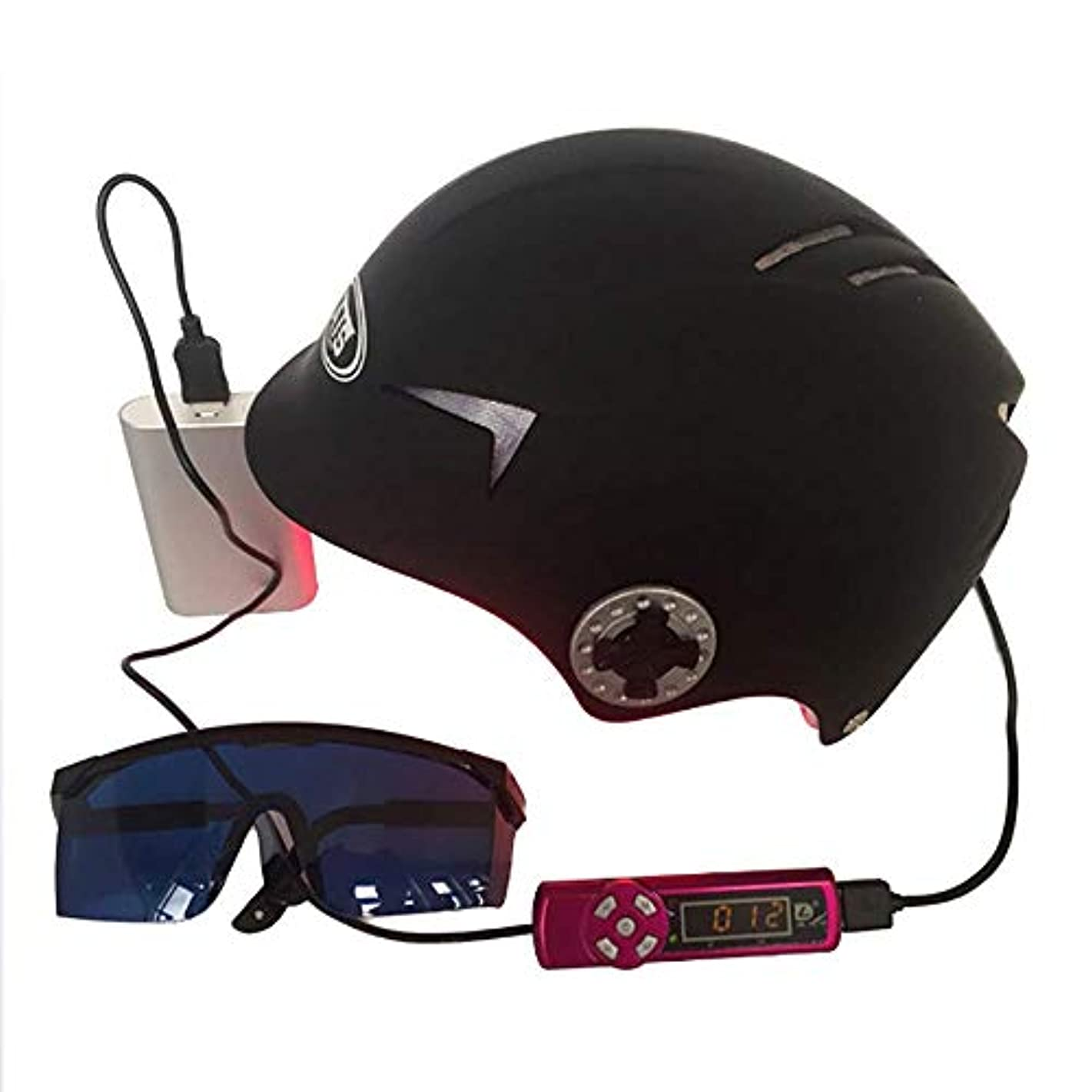 リアルカップル衝突育毛ヘルメット急成長脱毛ソリューション男性と女性のダイオード治療ヘア帽子,64