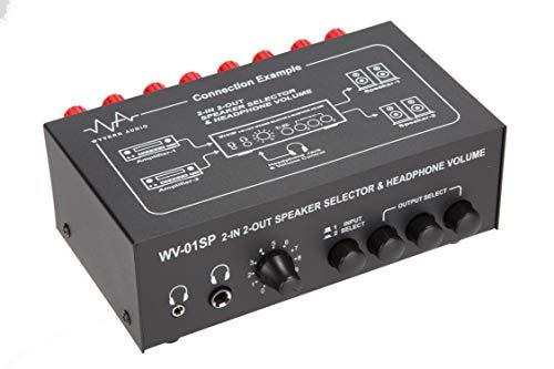 WYVERN 2in ⇔ 2out スピーカー アンプ セレクター / スイッチャー イヤホンボリューム機能付 バナナプラグ式ターミナルタイプ B015FHHFD2 1枚目