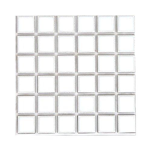 RoomClip商品情報 - シール式モザイクタイルシート デコレ[大正カフェ/1枚販売]/ホワイト/1枚サイズ:15cm×15cm/Z3K