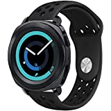Silicone Band Compatible with Samsung Galaxy Watch 42mm Bands, 20mm Silicone Breathable Replacement Sport Strap for Gear Sport Band/Gear S2 Classic Band