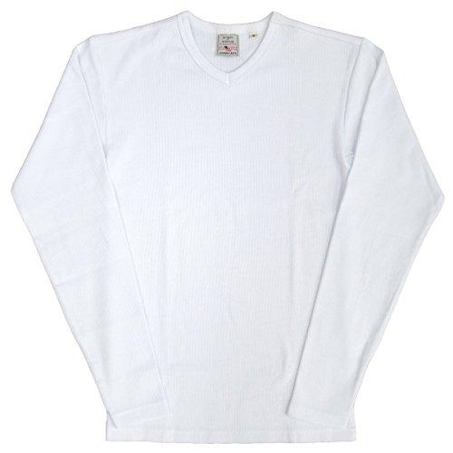 AVIREX デイリー Vネック ロングスリーブ Tシャツ #6153480(旧品番#617394)Mホワイト