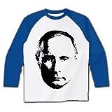 (クラブティー) ClubT おそロシア!見据えるプーチン ラグラン長袖Tシャツ(ホワイト×ホイヤルブルー) M ホワイト×ロイヤルブルー