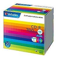 三菱化学 データ用CD-R 1枚×20(5ミリ) IJP対応 SR80SP20V1/62313322