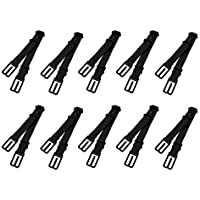 uxcell Women Elastic Band Non-Slip Adjustable Bra Straps Holder 10 Pcs Black
