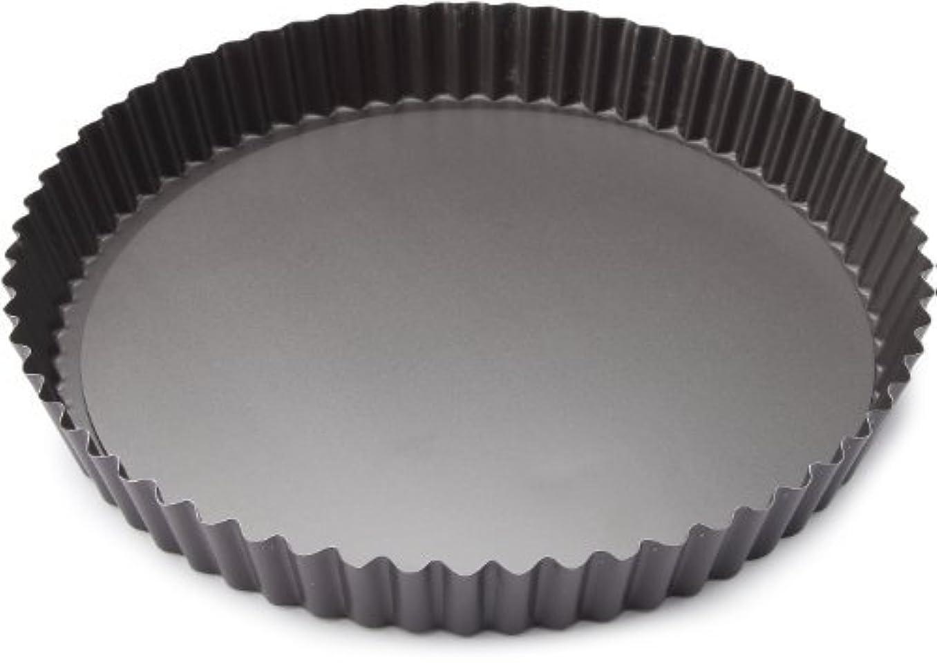 行政喜ぶ抑制Patisse Round Quiche Pan with Removable Bottom 02948 Profi Series 11 or 28 cm in Diameter and 1-3/16 or 3 cm Deep/High Charcoal Gray color [並行輸入品]