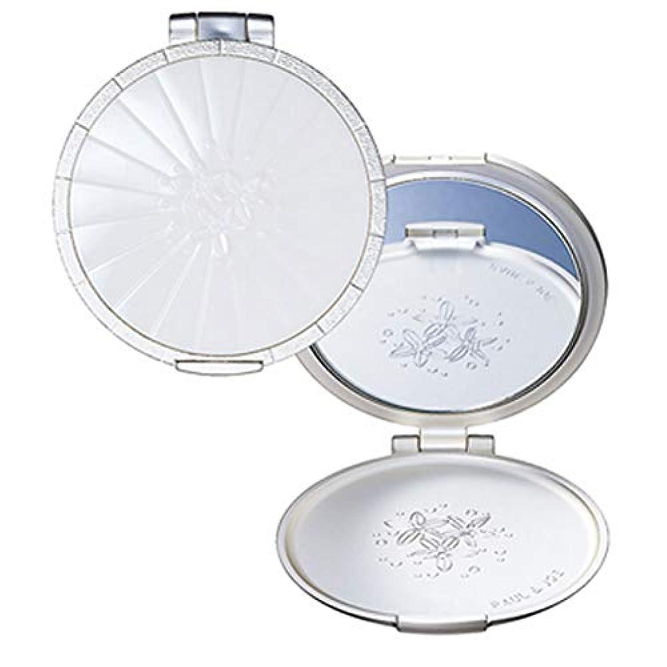 ストローエンゲージメント手配する(ポール&ジョー) PAUL&JOE P&J コンパクトミラー 鏡 ミラー 手鏡 フラワー ポールアンドジョー 化粧直し かわいい グレープフルーツ 花 クラシカル 巾着 セット SET