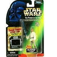 Star Wars - Power of the Force - Freeze Frame Luke Skywalker with Blast Shield Helmet Action Figure by Kenner