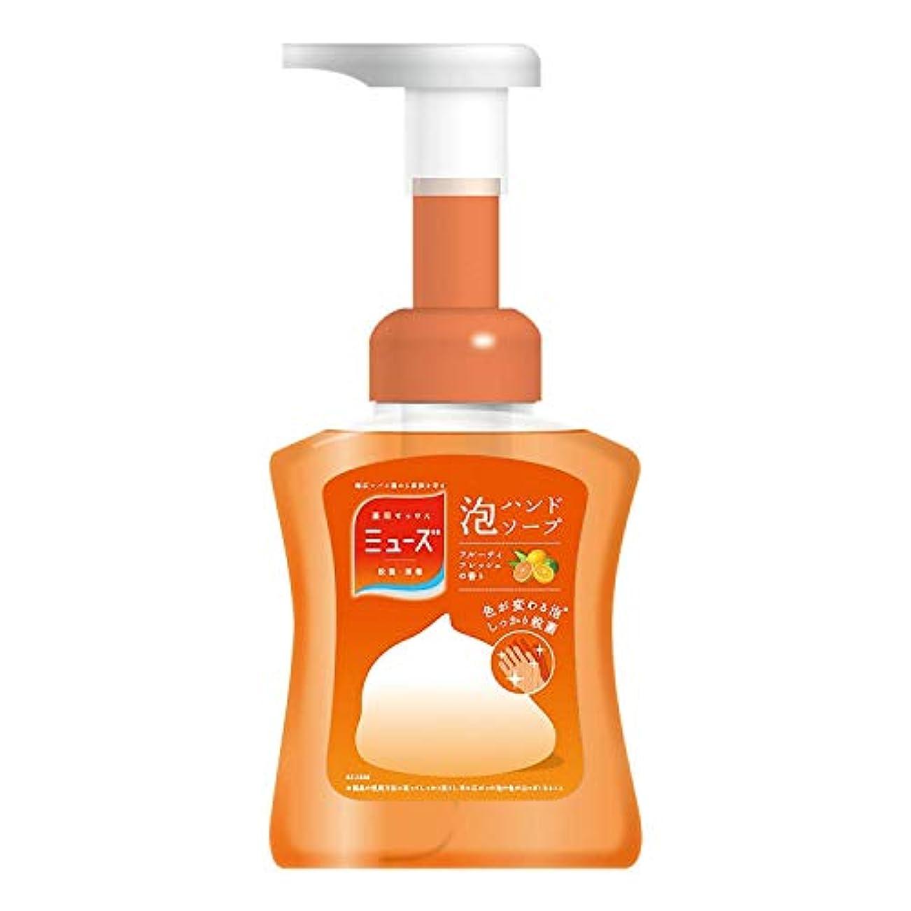 夜レディ熱帯の【医薬部外品】ミューズ 泡 ハンドソープ フルーティフレッシュの香り 色が変わる泡 本体ボトル 250ml 殺菌 消毒 手洗い 保湿成分配合