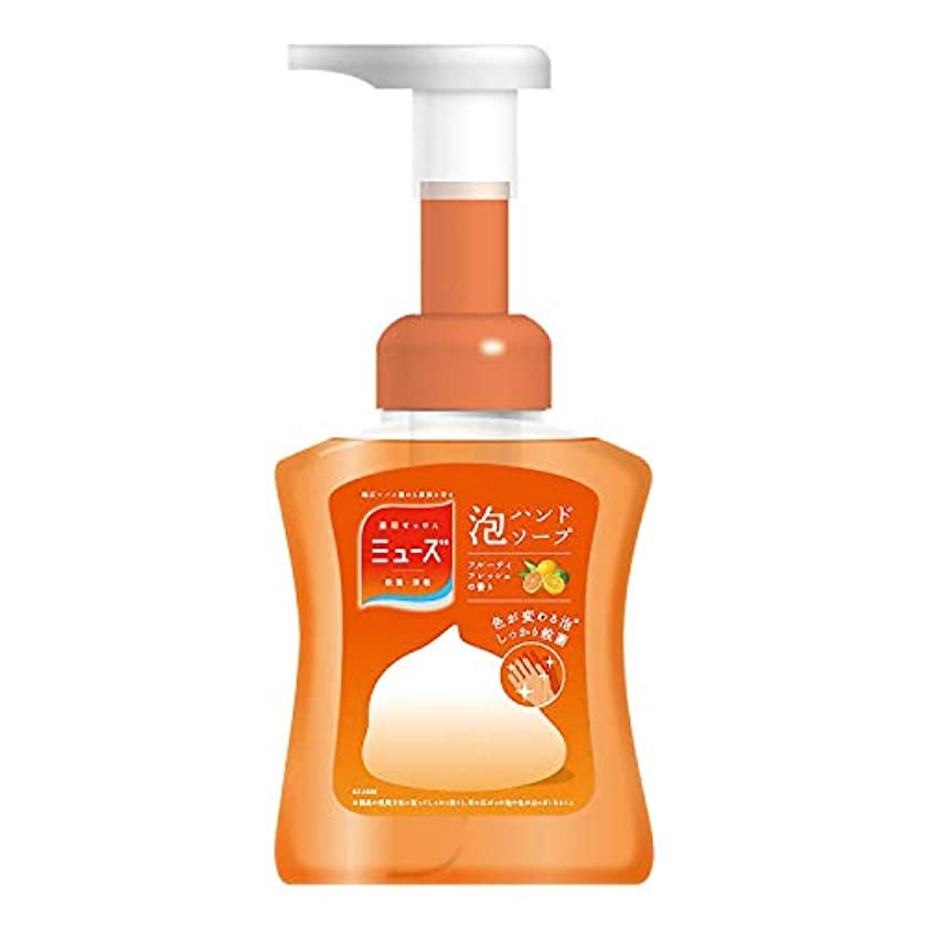 戦艦添加剤【医薬部外品】ミューズ 泡 ハンドソープ フルーティフレッシュの香り 色が変わる泡 本体ボトル 250ml 殺菌 消毒 手洗い 保湿成分配合