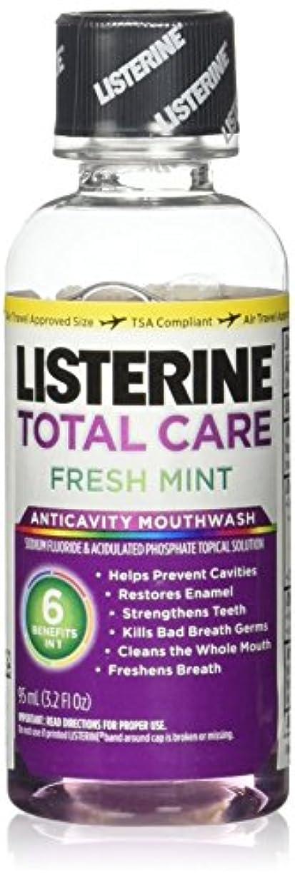 通路模倣するListrn Tot Frsh Mnt Size 3.2z Listerine Total Care Fresh Mint Mouthwash by Listerine