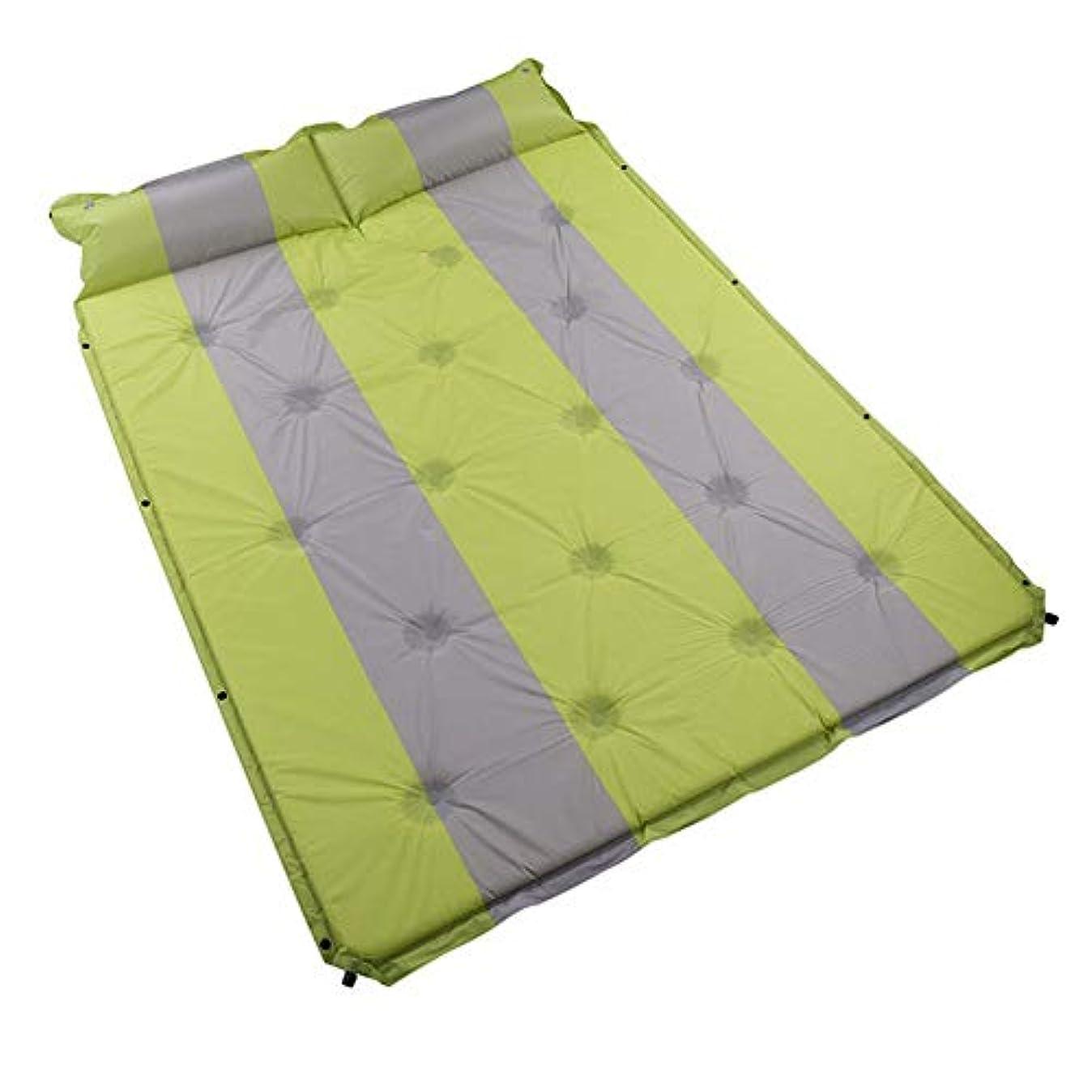 カメラ豆干渉光 アウトドア 睡眠 パッド、 ダブル 睡眠 マット と 枕、 自己膨張する 水分 証明 パディング、 にとって キャンプ、 ピクニック、 アウトドア、 軽量