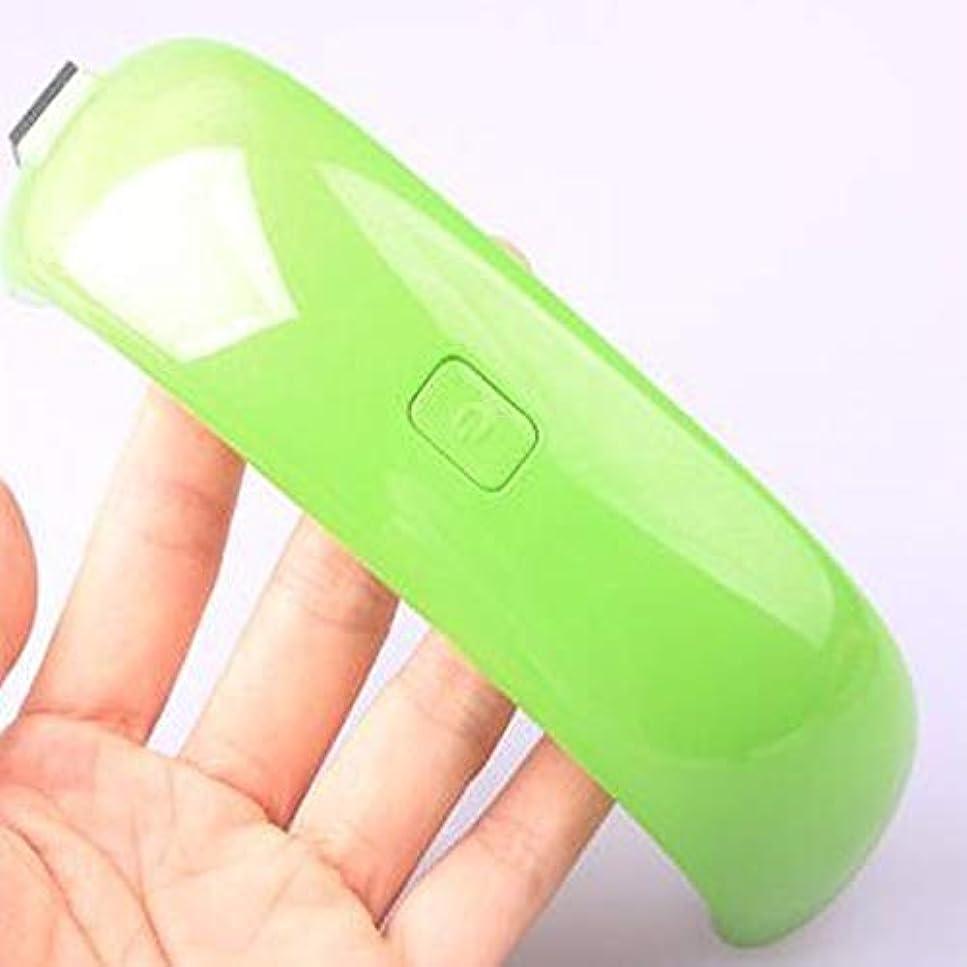 ひそかに天の綺麗なSnner ネイルドライヤー UVライト 硬化ライト LED UVとLEDダブルライト タイマー設定可能 ジェルネイル用 USB式 手足とも使える 赤外線人感センサー (グリーン)