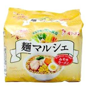無塩製麺 イトメン 麺マルシェ みそ味ラーメン 5食入