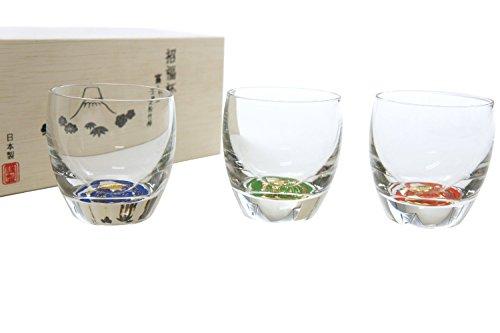 招福杯 富士見松竹梅 杯3種揃え G086-T238