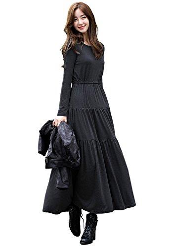 [해외]루리쥬즈 Religeuses 롱 플레어 원피스 부드러운 편안한 맥시 원피스 여성/Religeuses Religeuses Long Flare One Piece Softly relaxing Maxi Dress Women`s