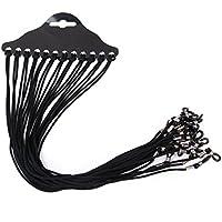 ROSENICE Nylon Eyeglass Spectacle Sunglass Eyewear Cord Holder Neck String (Black) 12pcs