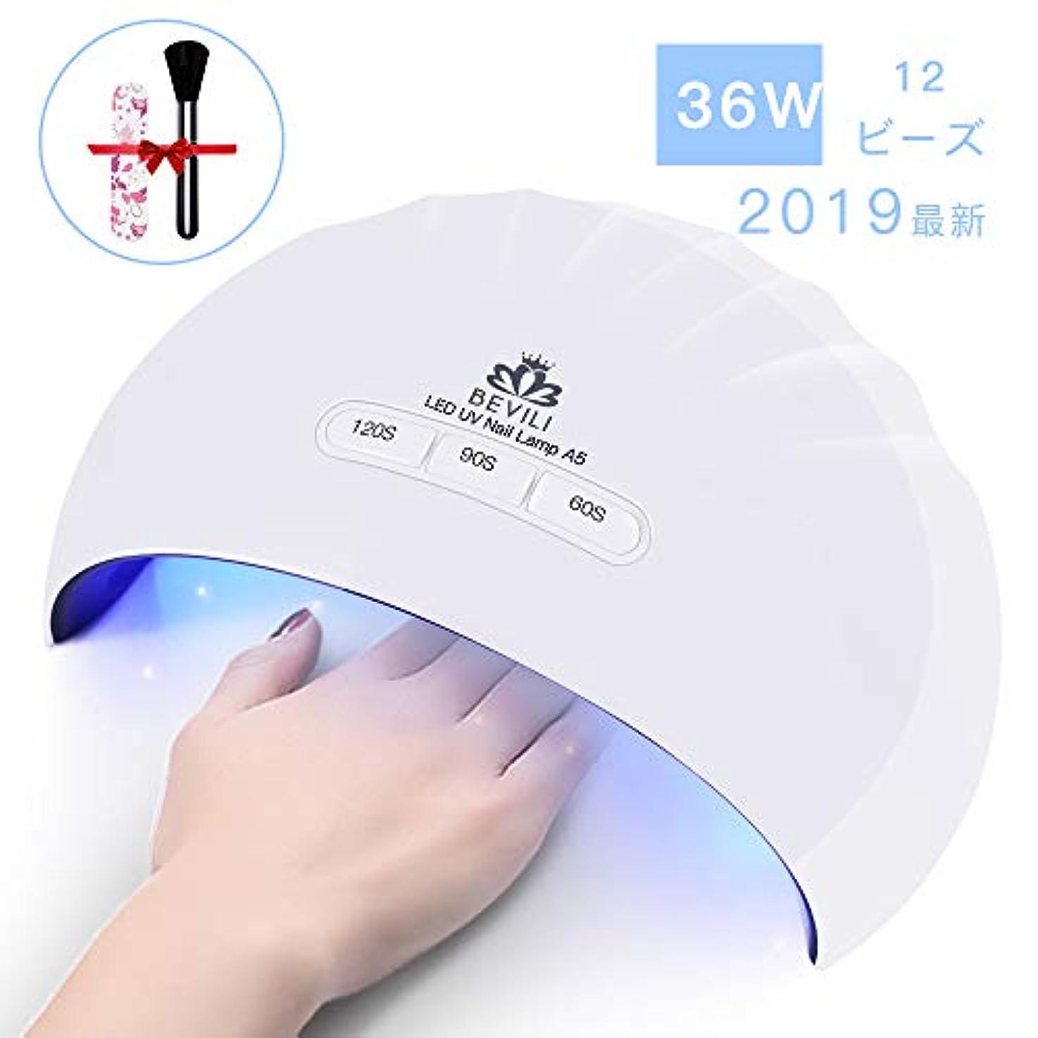 ビバ思い出させる成功する硬化用UV/LEDライトジェルネイルライト 肌をケア センサータイマー付き UVライト 速乾UV ネイル ハンドフット両用 ネイル led ライト USB対応 (ホワイト)