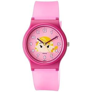 [シチズン キューアンドキュー]CITIZEN Q&Q 腕時計 ディズニー コレクション TSUMTSUM ラプンツェル ウレタンベルト ピンク HW00-007 ガールズ