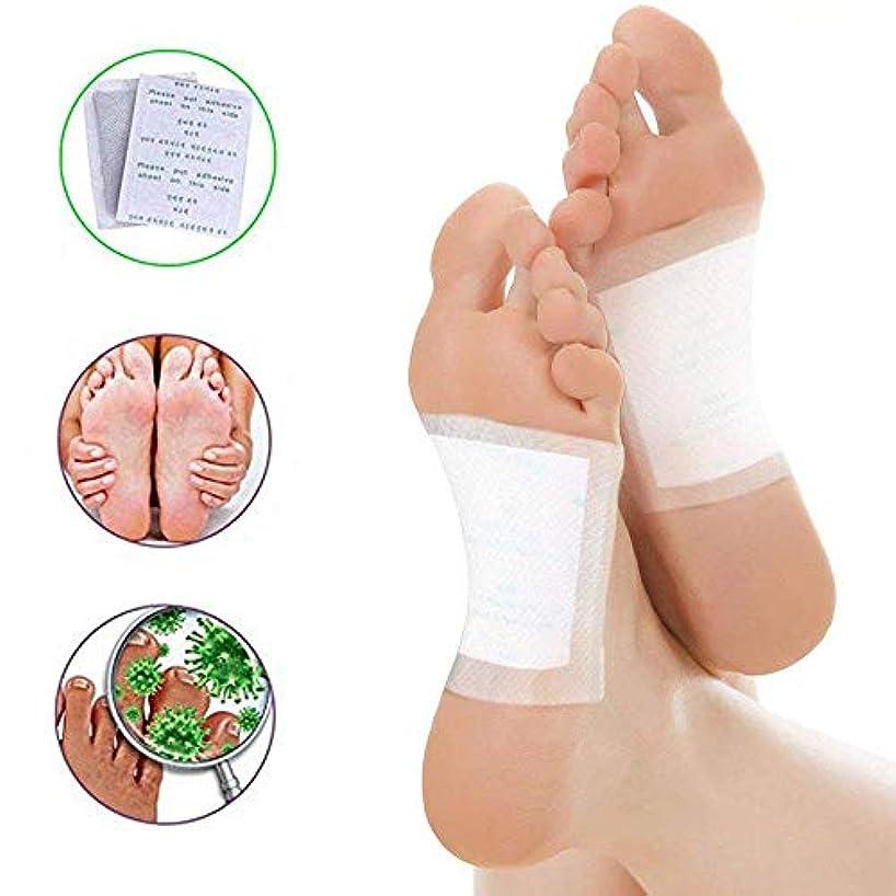 100 Pcs のデトックスパッチ 自然な解毒のフットパッド 速い苦痛の救助 自然な有機性タケ 苦痛救助 きれいな健康のパッド
