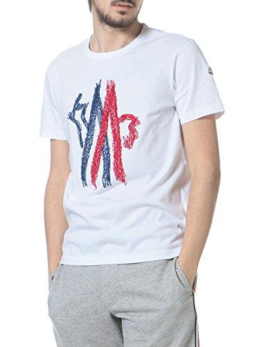 (モンクレール) MONCLER 綿100% ロゴ刺繍 クルーネック 半袖 Tシャツ [【MC80350508390T】] [並行輸入品]