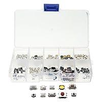 Ungfu Mall PB02 200個10種類触覚 プッシュボタンタッチスイッチリ モートキー