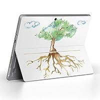 Surface go 専用スキンシール サーフェス go ノートブック ノートパソコン カバー ケース フィルム ステッカー アクセサリー 保護 木 空 絵 012984