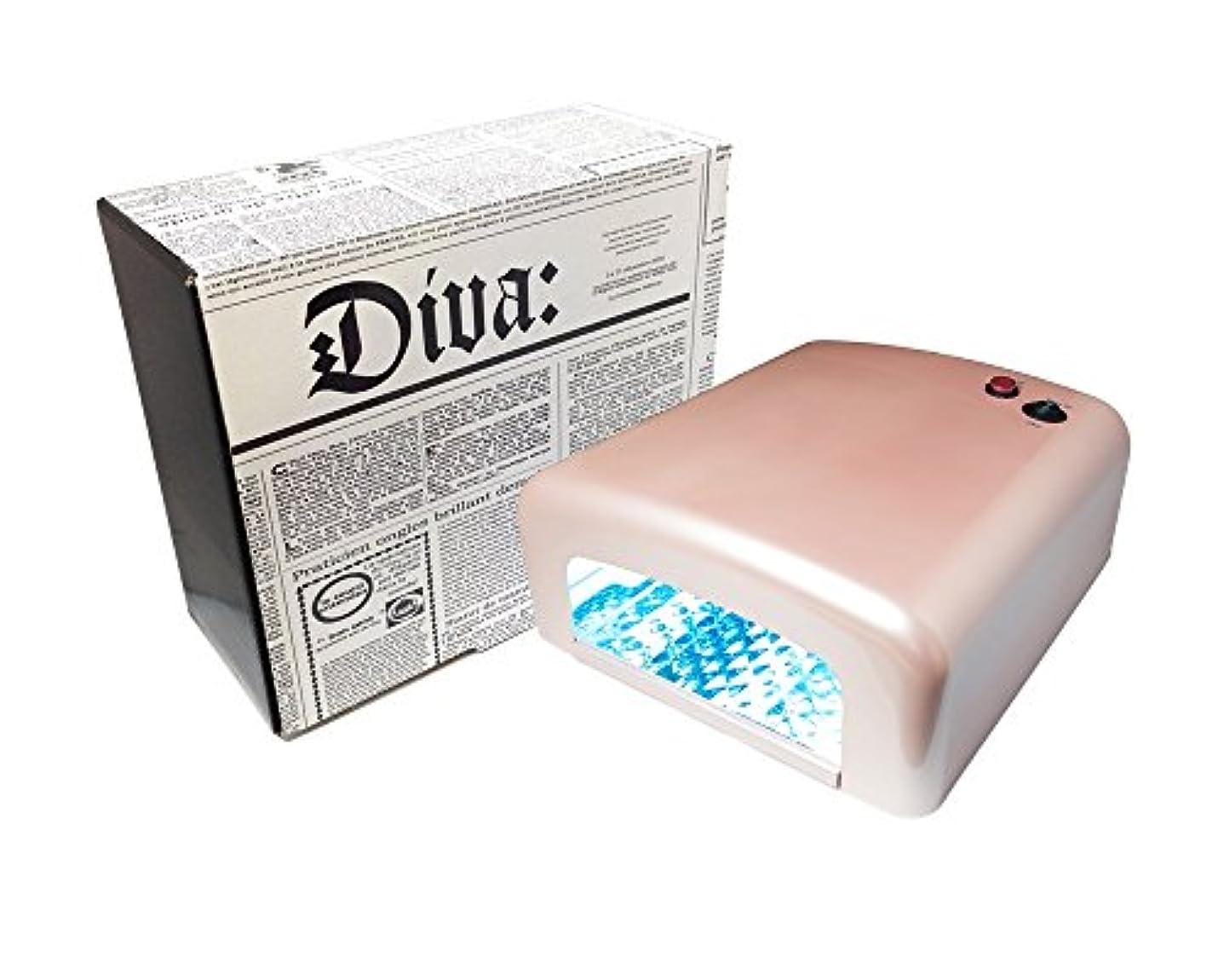 クリップ蝶最後にトマトDiva(ディーヴァ) UVライト36W UVレジン用 本体 パールピンク