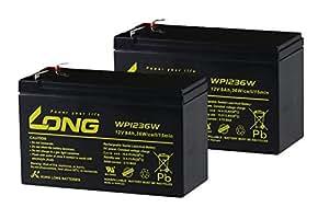 シールド式 LONGバッテリー『WP1236W』 12V9Ah UPS用バッテリー WP8-12互換 2個セット