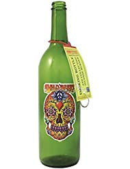 グリーンガラスIncense Smokingボトルシュガースカルデザイン、Plus 10 SticksフリーオレンジIncense