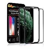 【改善版】OAproda iPhone 11 pro 全面保護フィルム 強化ガラス ガイド枠付き 2019新型 アイフォン11 pro 5.8インチ 用 フィルム