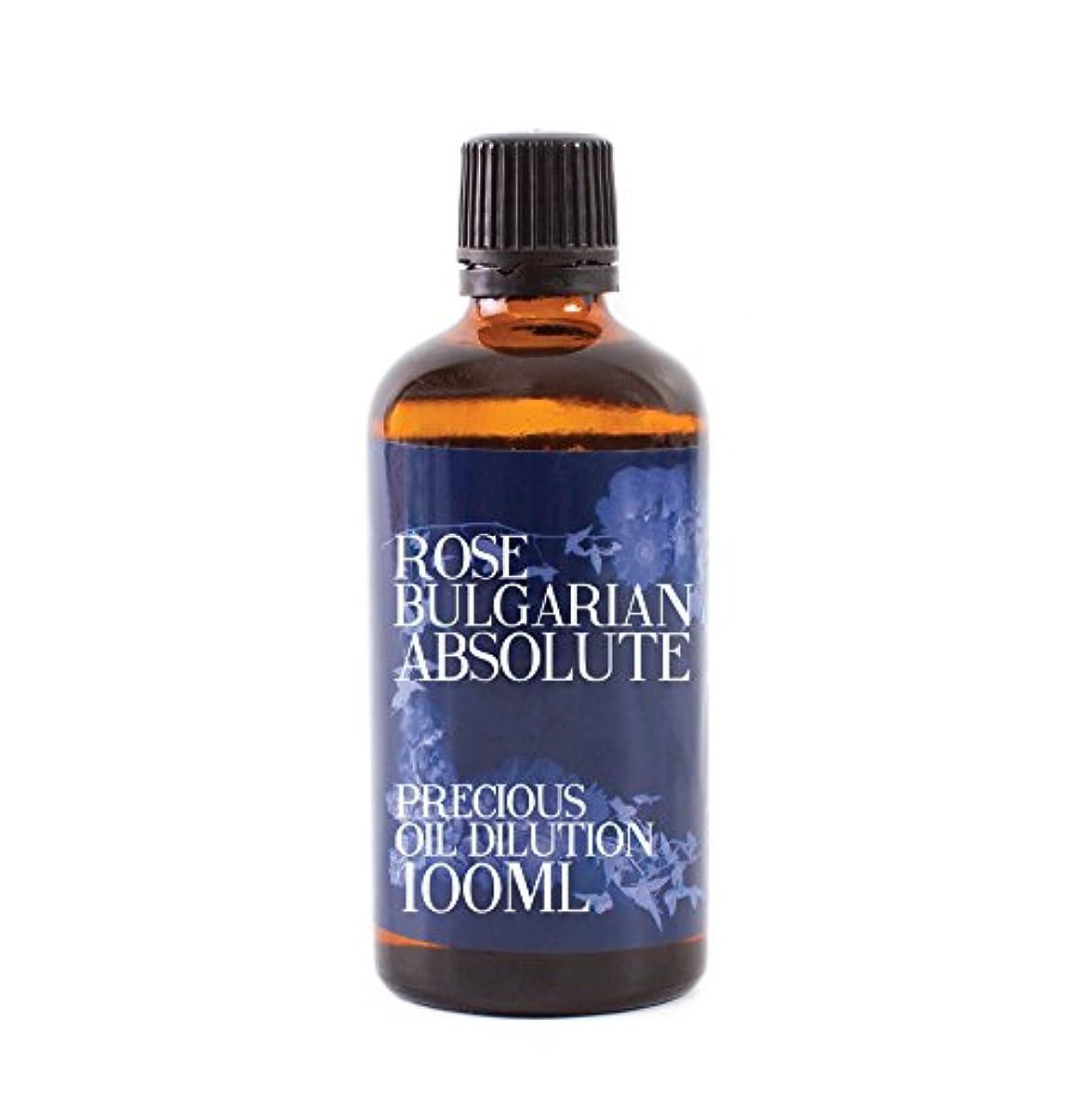 エクステント系統的比類のないRose Bulgarian Absolute Oil Dilution - 100ml - 3% Jojoba Blend