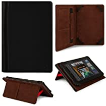 """Black VG Faux Leather Portfolio Book Cover Case w/ Pull Out Stand for Xelio P1001 10.1"""" Android Tablet / Linsay Star X-10HD / Linsay Cosmos F-10HD 10.1-inch Android Tablets by VangoddyTM [並行輸入品]"""