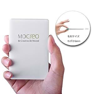MOCREO® モバイルバッテリー2500mAh、超薄型モバイルバッテリー LAVO-2500(lightningアダプタ付け)