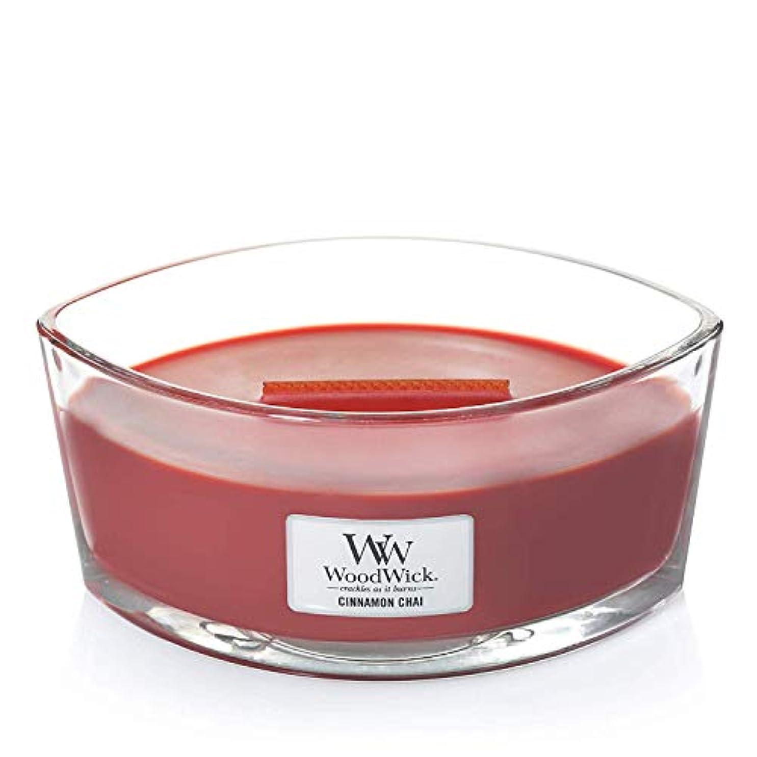魔術振るう覚えているWoodWick 76104 Cinnamon Chai HearthWick Candle, Red by Woodwick