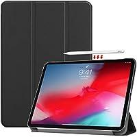 iPad Pro 11 2018 ケース TopACE 【apple pencilの充電とペアリングへの影響を与えません】 超薄型 スマートケース スタンド機能付き 高級PU レザーケース iPad Pro 11 対応 (ブラック)