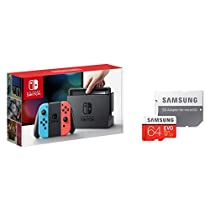 Nintendo Switch Joy-Con (L) ネオンブルー/ (R) ネオンレッド+Samsung microSDXCカード 64GB EVO Plus Class10 UHS-I U3対応