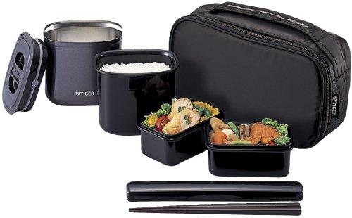 TIGER ビジネスランチ メンズタイプまほうびん弁当箱 ブラック LWW-A075-K / タイガー