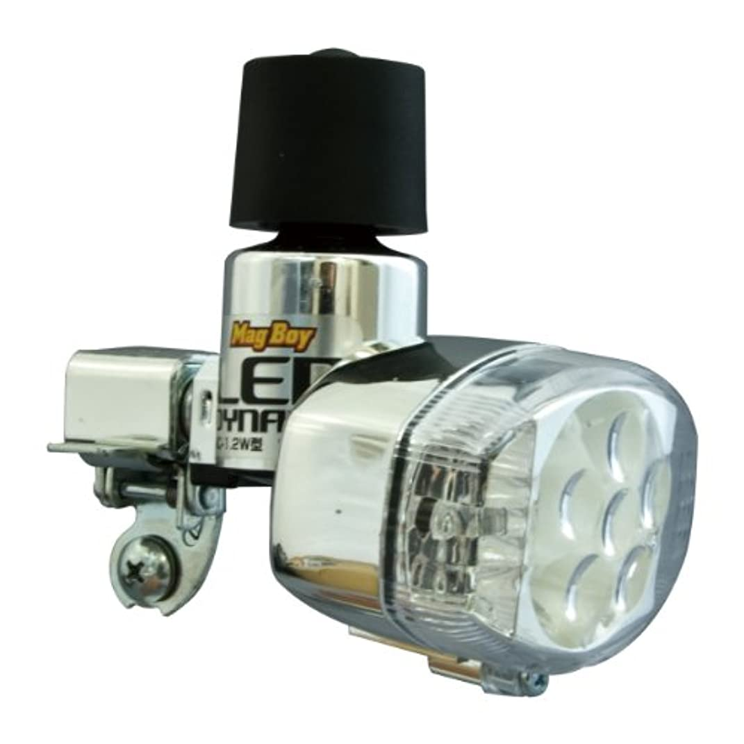 接地浸漬崖丸善(MARUZEN) Mag Boy [MLA-8-O] LED ホワイト6灯オレンジ2灯 発電ランプ
