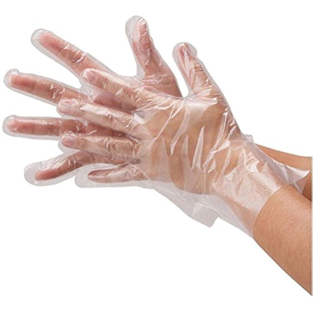 無許可湿度夕暮れROSENICE 使い捨て ポリエチレン手袋 100ピース(透明)