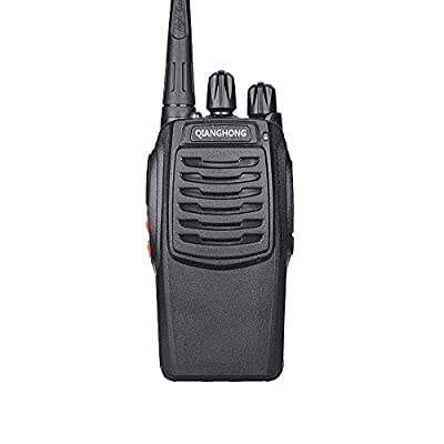Qianghong BF-C1 Portable Rechargeable Long Range Two Way Radios with Earpiece 2 Pack UHF 400-470Mhz Walkie Talkies