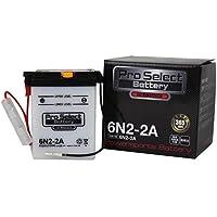 ProSelect(プロセレクト) バイクバッテリー 6N2-2A 液入り充電済み 1個