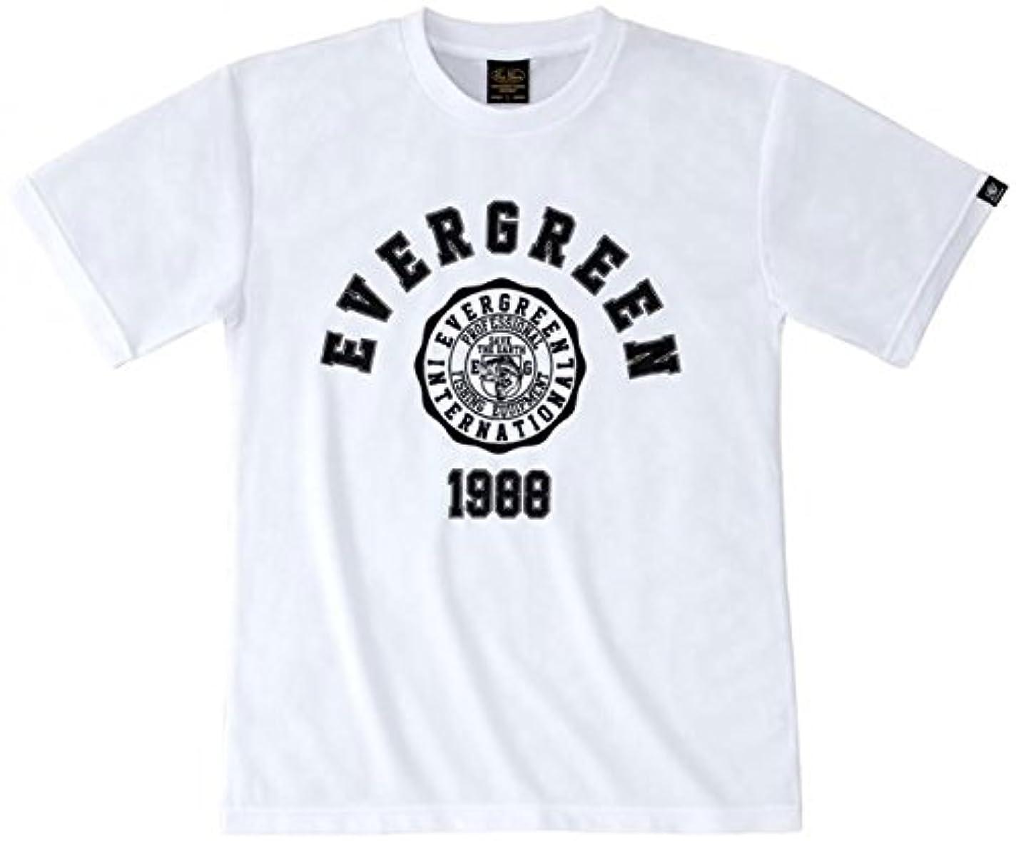 鉄道駅アフリカ人飾り羽エバーグリーン(EVERGREEN) Tシャツ ドライ Eタイプ XXL ホワイト