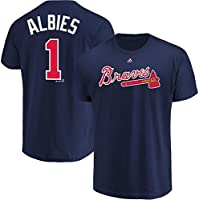 Outerstuff Ozzie Albies Atlanta Braves # 1 Youth Player Name & Number TシャツNavy