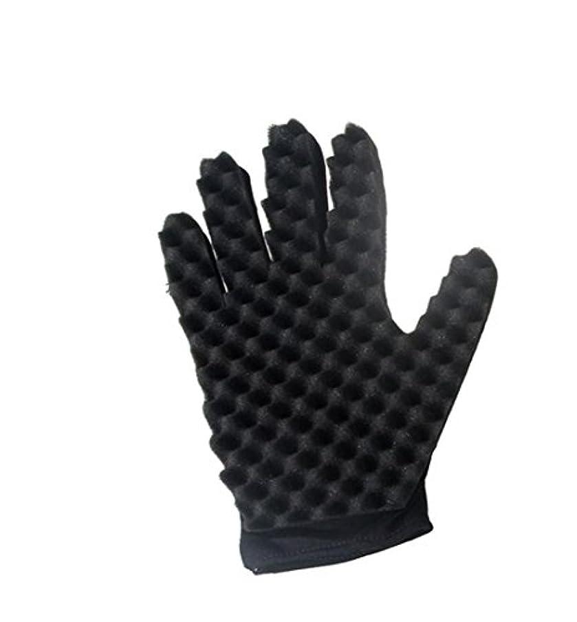 強度半球マトロンtpingfeコイルファッションカールマジックツールWaveバーバーヘアブラシスポンジ手袋、1pc